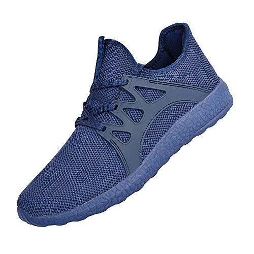 Feetmat Herren Sneakers Leichte atmungsaktive Mesh Gym Freizeitschuhe Blau