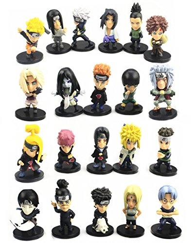 Naruto Action Figures & Playsets: 21 PCS, 1.9 - 2.4 IN Tall