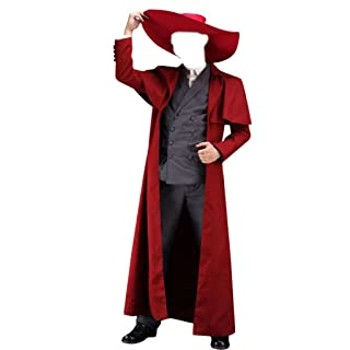 Dream2Reality Japanese Anime Hellsing Cosplay Costume - Alucard Outfit 1st Ver Kid Size Large