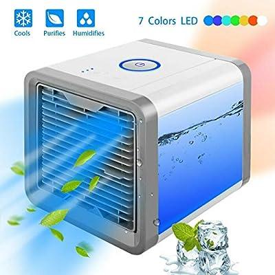 Mini Enfriador Portátil USB Aire Acondicionado 3 en 1 Ventilador ...