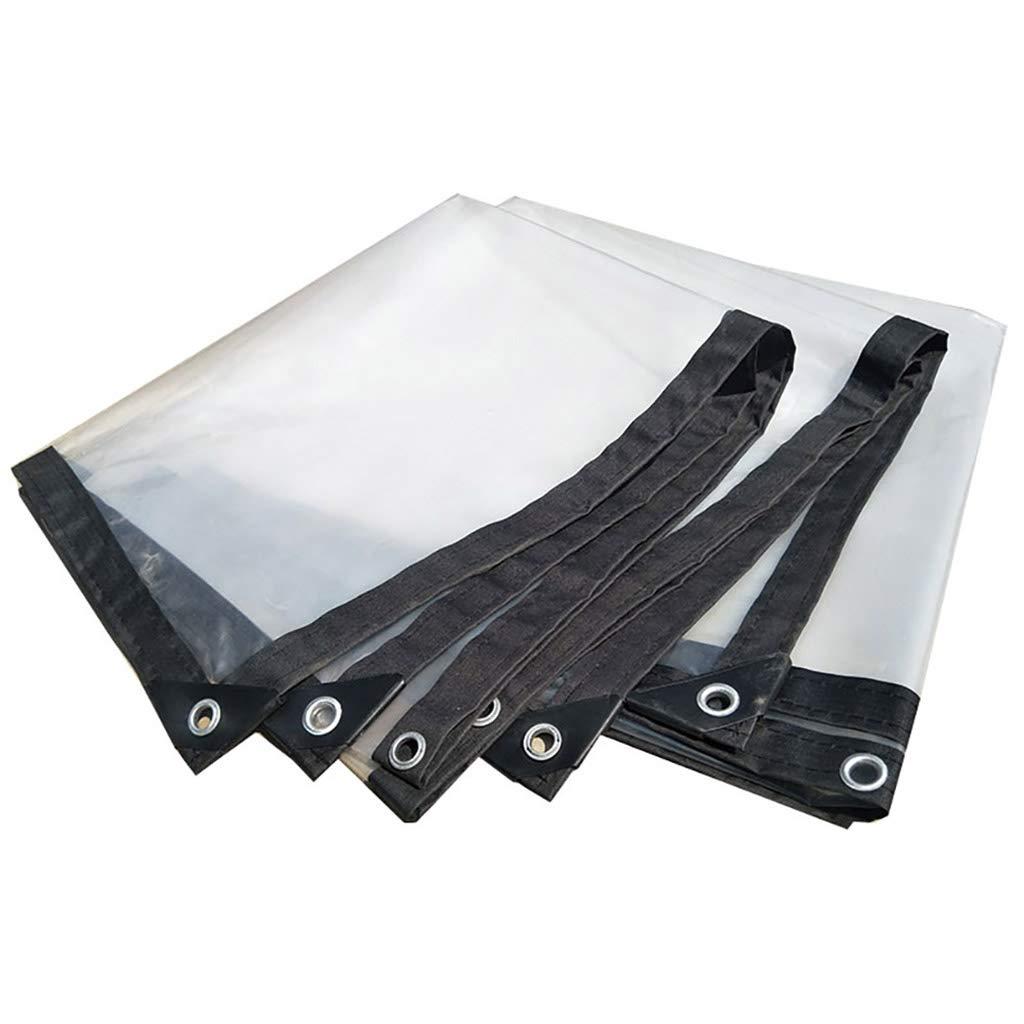 3×4M BÂche de Prougeection Transparent Imperméable Et Imperméable épaissir Toile Plastique Fenêtre Balcon Fleur Récolte Film à Effet De Serre 2 × 8M (Taille   2×4M)