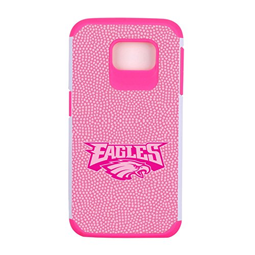 NFL Philadelphia Eagles Football Pebble Grain Feel Samsung Galaxy S6 Case, Pink