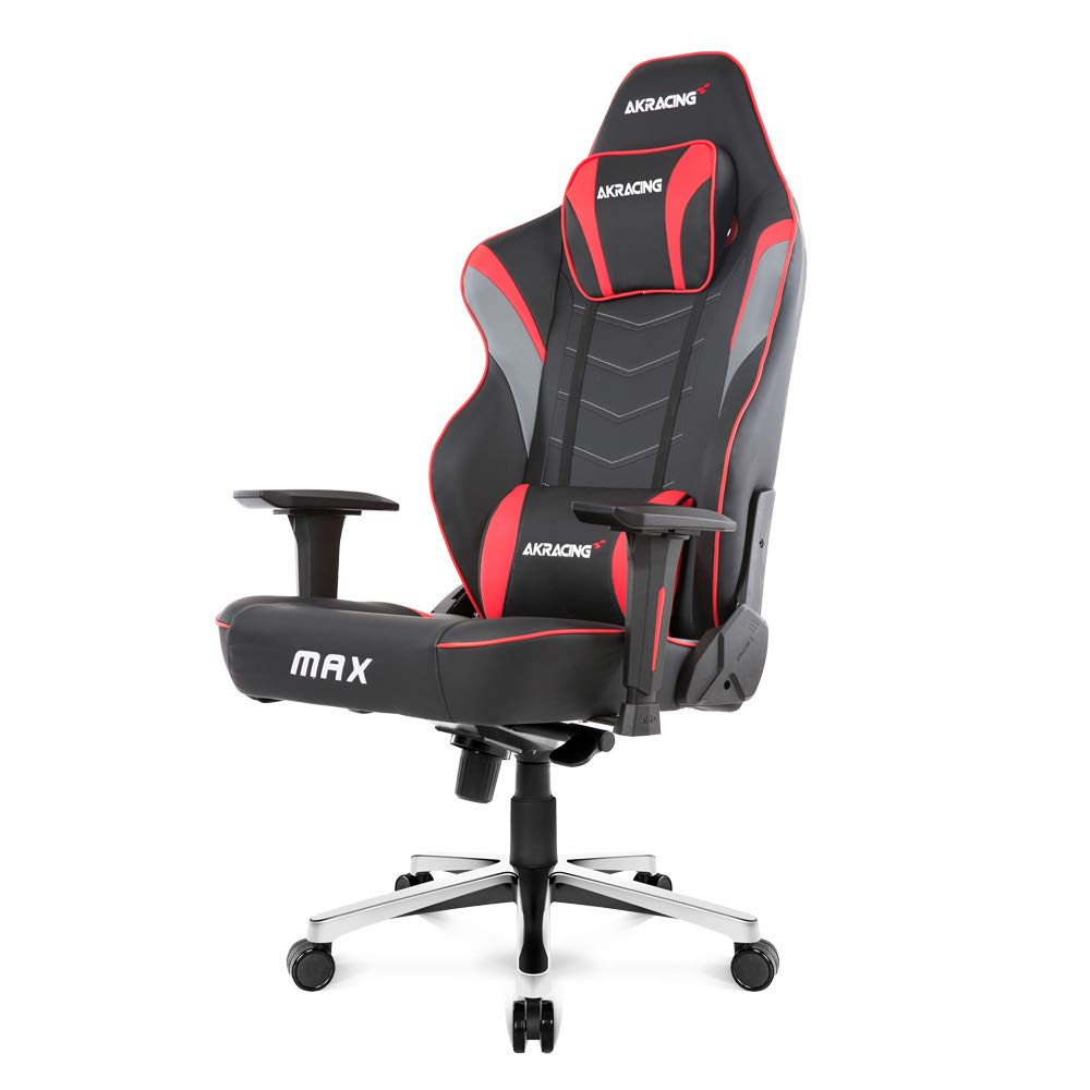 AKRacing Masters Series Max Gaming Chair with Wide Flat Seat, 400 Lbs Weight Limit, Rocker and Seat Height Adjustment Mechanisms with 5/10 Warranty by AKRacing