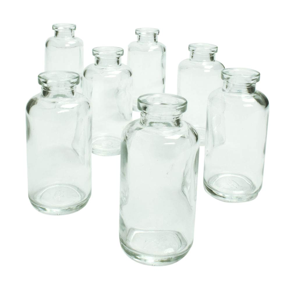Couronne Company, Clear Glassnow C6535-N Apothecary Glass Bottle No Cork, 3.4oz, 12 Pieces