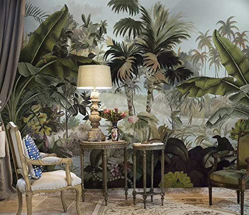 Murwall Forest Wallpaper Vintage Jungle Wall Mural Cobra Wall Print Tropical Home Decor Cafe Design
