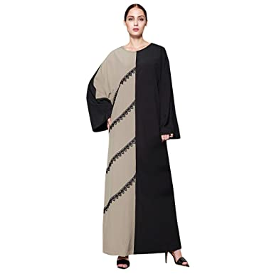 Musulmán 2019 Qu-Hsrkocb Vestido de Mujer Musulmana ...