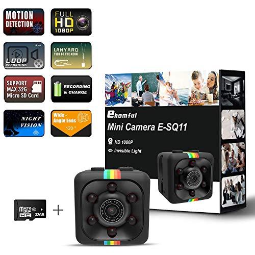 🥇 Ehomful 1080P HD Mini Spy Camera