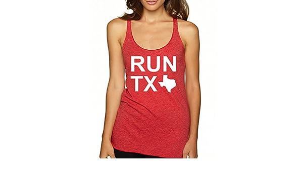 Amazon.com: SignatureTshirts Womens Run Texas Racerback Tank Top: Clothing