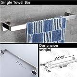TURS 4-Piece Bathroom Accessories Set Towel Bar
