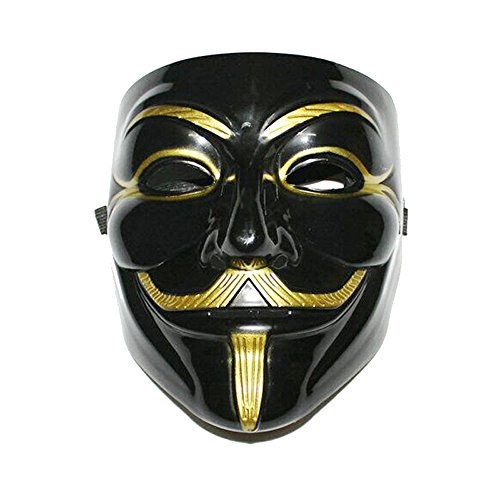 Anonymous Halloween Cosplay V-Vendetta Costume Mask Guy Fawkes 2 PCS (Sexy Costumes For Guys)