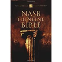 NASB, Thinline Bible, Bonded Leather, Black, Red Letter Edition