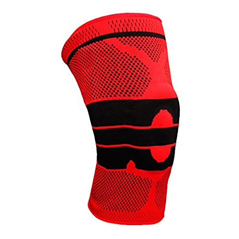 One & Only USA Magnetic Gel Padded Knee Brace with Maximum Knee Support for Athletes and Every Day Use - RED (Red - 1 Pair (2 (Walmart Beactive Brace)