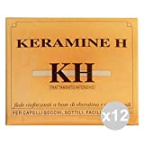 Set 12Keramine H Ampoules Ivory Hair secchi-sottili Hair Products
