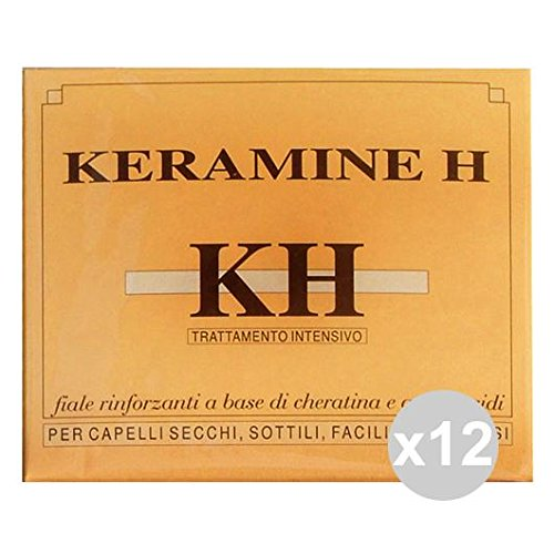 Set 12 Keramine H Ampoules Ivory Hair secchi-sottili Hair Products