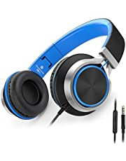 Headphones,Ailihen C8 Lightweight Foldable Headphones with Microphone for iPhone,iPad,iPod,Android Smartphones,PC,Laptop,Mac,Mp3/mp4,Tablet,Headphone Headset for Music or Gaming …