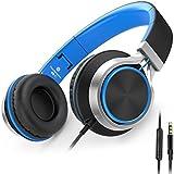 AILIHEN C8 Headphones Microphone Volume Control Cellphones Tablets Android Smartphones Laptop Computer Mp3/4 (Black/Blue)