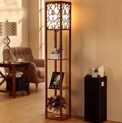 YAN Stehlampe Stehlampe Moderne Wohnzimmer Schlafzimmer Schreibtisch Boden Holzboden Stehlampe (L26Cm W26Cm H160Cm)