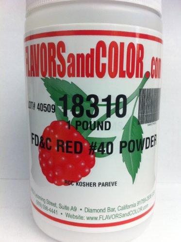 FD&C Red #40 Powder 454 Grams by FLAVORSandCOLOR.com