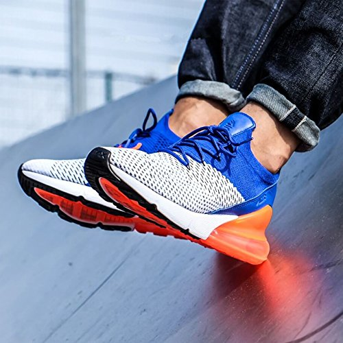 TENGFEI Air 270 Flyknit Men's Running Shoes Trainers Lace up Breathable Leisure Sneaker B07DG251QX 12 M US|Blue and White