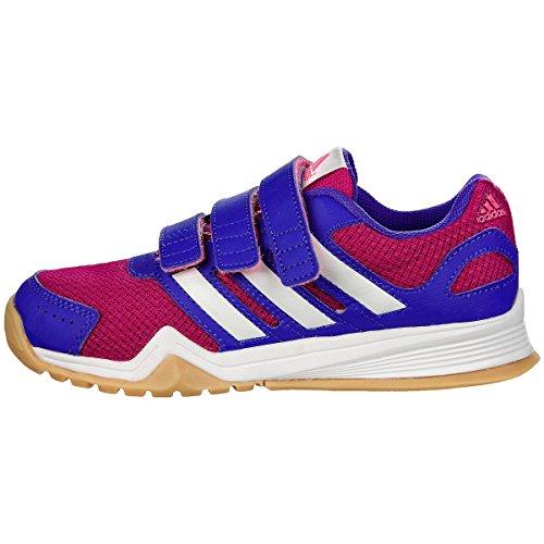 Adidas INTERPLAY CF K Hallentrainingsschuh - Kinder - pink/weiss/lila, Größe:35