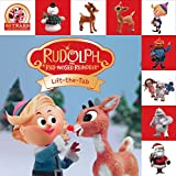 """Rudolph the Red-Nosed Reindeer Lift-the-Tab Hardcover Book, 8"""""""
