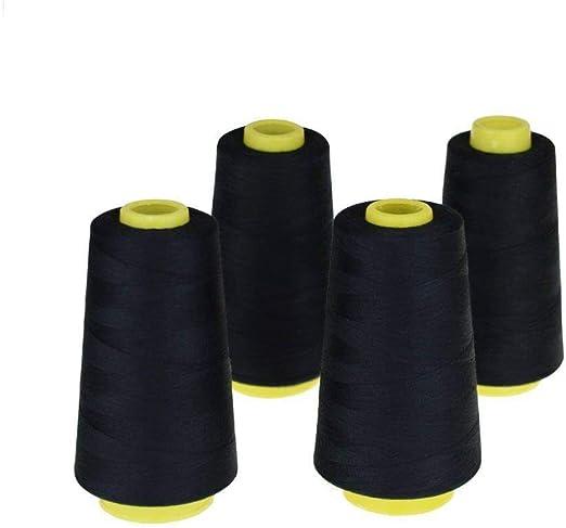 Candora - Hilos de costura (4 conos, hilo de poliéster, carrete de ...