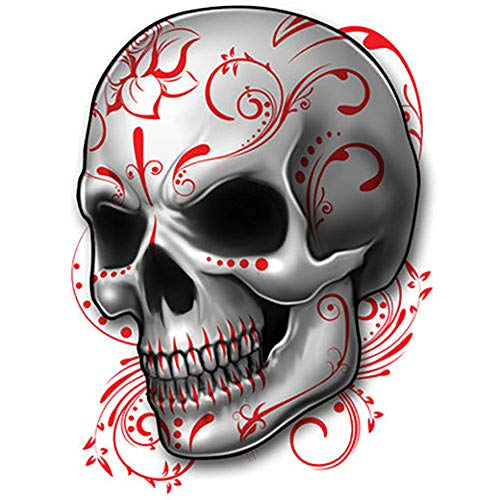 (Irvint & Co Best Of Skulls Temporary Tattoo Sugar Skull Calavera Style For Men Women Hands Arms Sleeves Neck Chest Temporary Tattoos Dead Skull Kids Fake Tattoos)