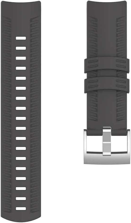 Ixkbiced Pulsera de Correa de Reloj de Repuesto de Silicona para Reloj GPS de la Serie Suunto 9