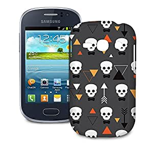 Phone Case For Samsung Galaxy Fame S6810 - Geometric Skulls Designer Premium