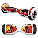 MightySkins Protective Vinyl Skin Decal for Hover Board Self Balancing Scooter mini 2 wheel x1 razor wrap cover sticker Bio Skull
