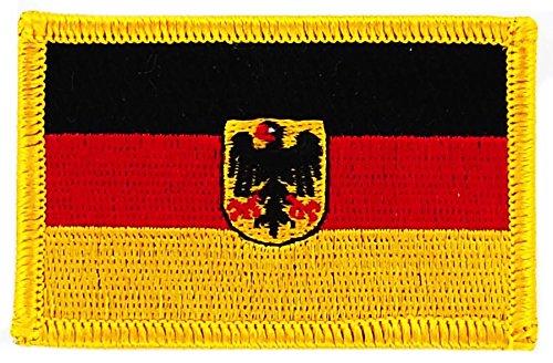 Patch Aufnäher bestickt Flagge Deutschland Adler Deutsch zum Aufbügeln Abzeichen