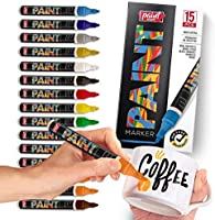 Paint Mark Quick-Dry Paint Pens - Write On Anything! Rock, Wood, Glass, Ceramic & More! Low-Odor, Oil-Based, Medium-Tip...