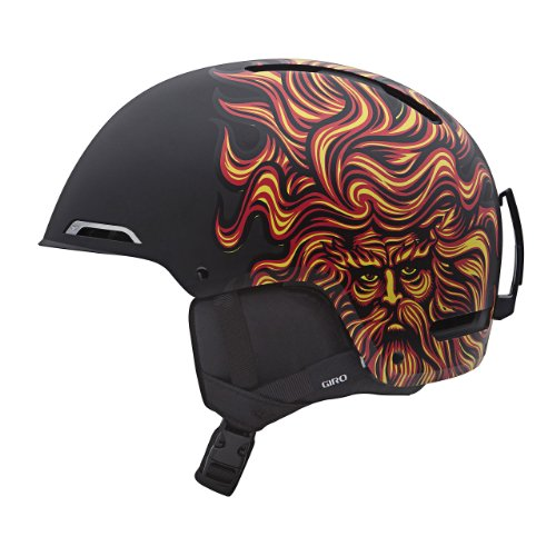 Giro Battle Snow Helmet (Matte Black Santa Cruz Sungod, Large), Outdoor Stuffs