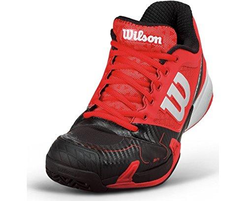 Wilson Rush Pro, Unisex adultos Zapatillas de tenis Rojo / Negro / Blanco