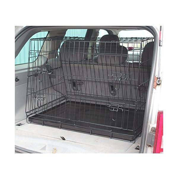 Hardcastle Folding Metal Car Boot Pet Dog Cage 1