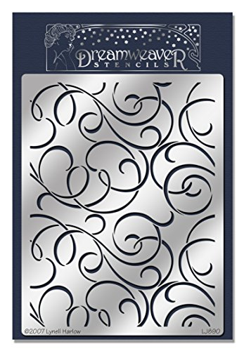 Stampendous New Wood - Stampendous Dreamweaver Stencil, Flourishes