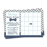 Bow Tie Baby Shower Bingo Game Card Set (25 Pack) Fill-In