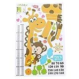 Refaxi Giraffe Monkey Height Wall Stickers Kids Growth Chart Height Measure Sticker Art Decal Wallpaper
