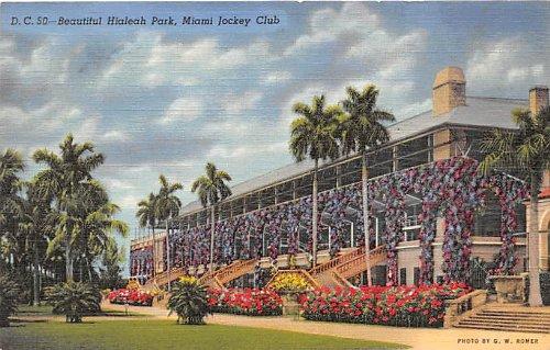 Miami Jockey Club, Florida Postcard