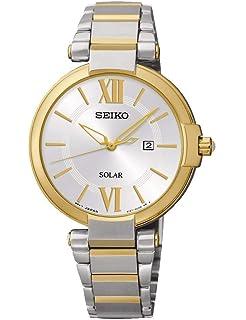 Reloj Seiko Solar Sut154p1 Mujer Plateado