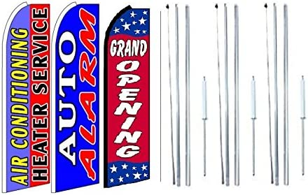 Abierto King  Size  Polyester Swooper Flag banner sign