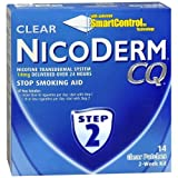Nicoderm CQ Step 2 Clear Patches 14 mg - 14 Units (Pack of 2)