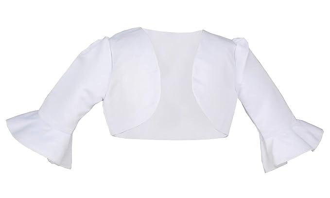3b494b7618a5f Boutique-Magique Boléro Enfant Blanc Mariage baptême ou Communion