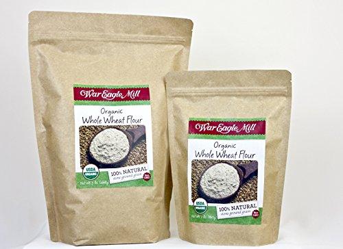 War eagle mill Organic Whole Wheat Flour in a resealable bag (2 lbs) -