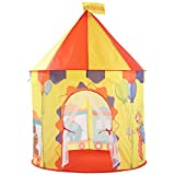 Ousaier Kids Play Tent, Boys & Girls Pop up Game Teepees | Funny Family Activities Expert | 2-3 Children's Large Castle Playhouse - Portable Indoor/Outdoor Design Carry Bag