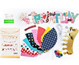 Fun-and-Colorful-Gold-Foiled-Happy-Birthday-Banner-Flags-and-Kids-Party-Hats-and-Crowns-Set-Party-Decoration-Supplies