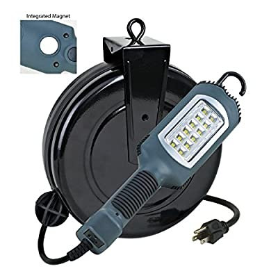 *HOT NEW ITEM* LED Cord Reel Shop Garage Work Light 1000 Lumens 5030AHS