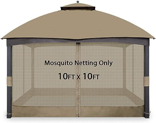 Gafrem Universal Gazebo Replacement Mosquito Netting Adjustable Screen Wall
