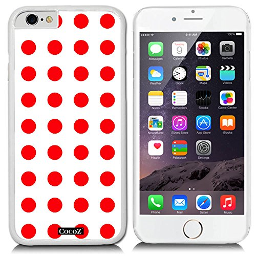 Diamond Patterned Tie (CocoZ® New Apple Iphone 6 s 4.7-inch Case Simple Lovely Polka Dot (White PC & Polka Dot)