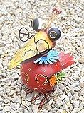 Dekofigur Vogel Lola, Gartenfigur aus Metall, GD129